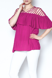 The Vintage Valet Pink Ruffle Top - Product Mini Image