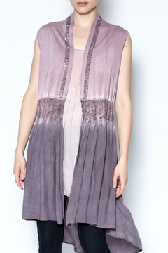 Shoptiques Product: Purple Rhinestone Vest