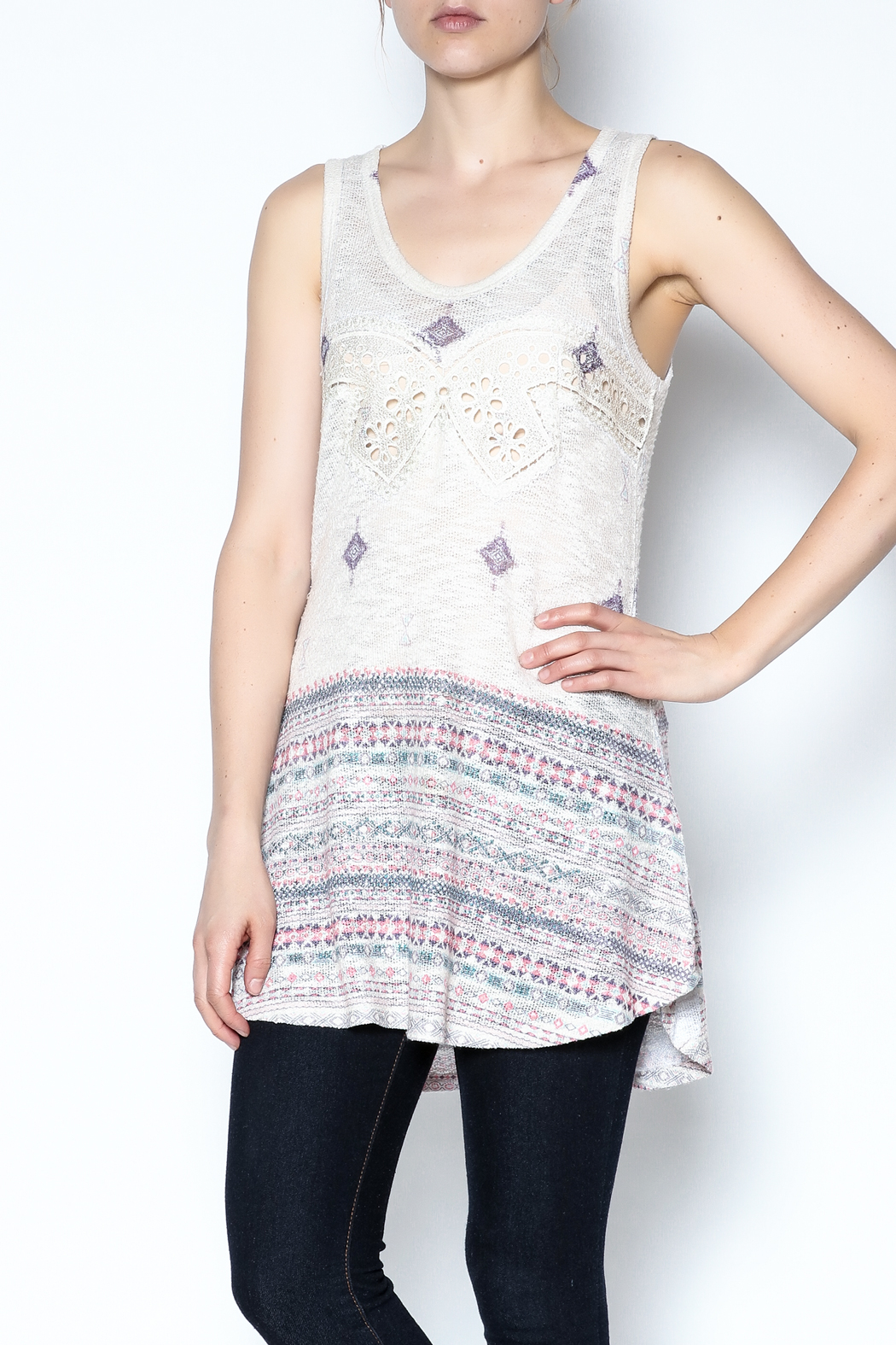The Vintage Valet Rhinestone Tank Top - Main Image