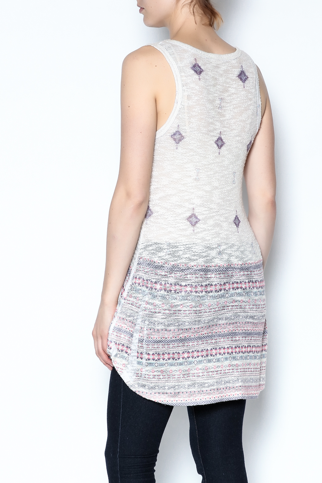 The Vintage Valet Rhinestone Tank Top - Back Cropped Image