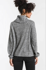 Zsupply The Waffle Thermal Cowl Neck Pullover - Front full body