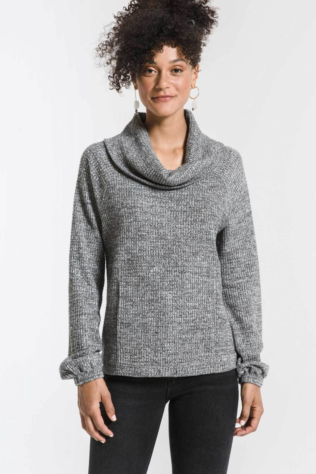Zsupply The Waffle Thermal Cowl Neck Pullover - Main Image