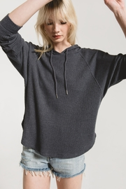 Z Supply  The Waffle Thermal Dolman Hoodie - Product Mini Image