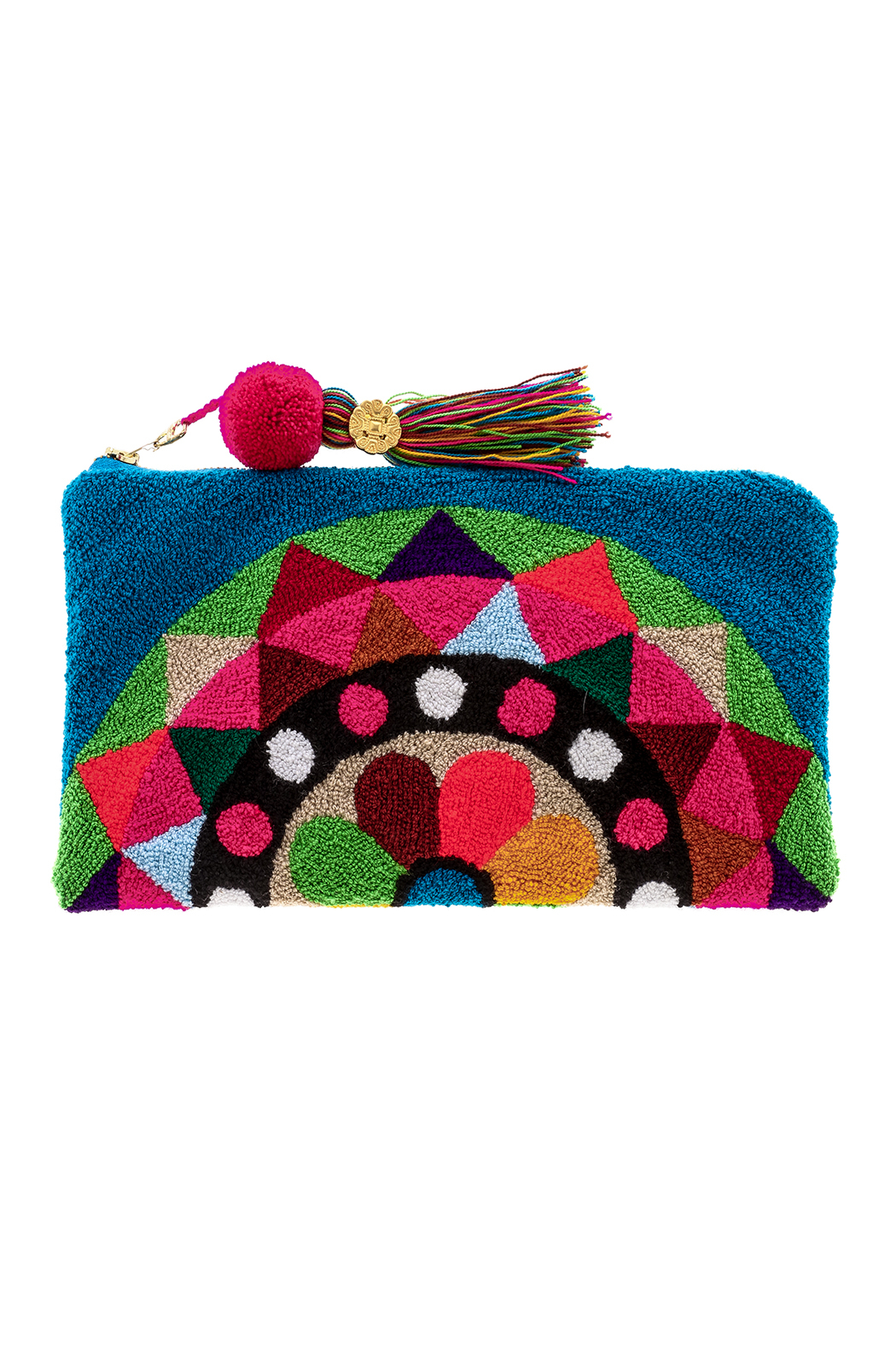the way u Carousel Pompom Clutch - Front Cropped Image