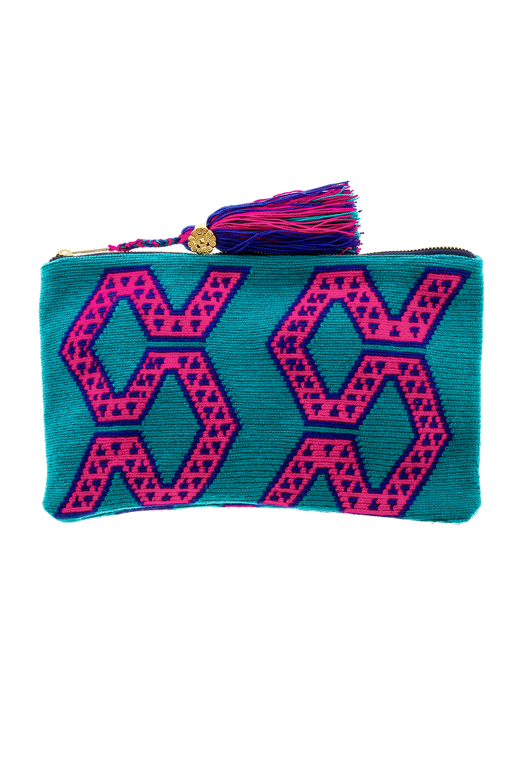 the way u Turquois Aztec Clutch - Main Image