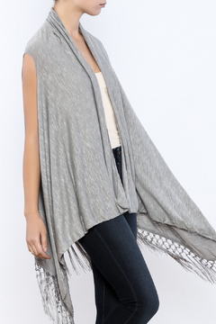 The Wow Now Fringed Vest - Product List Image