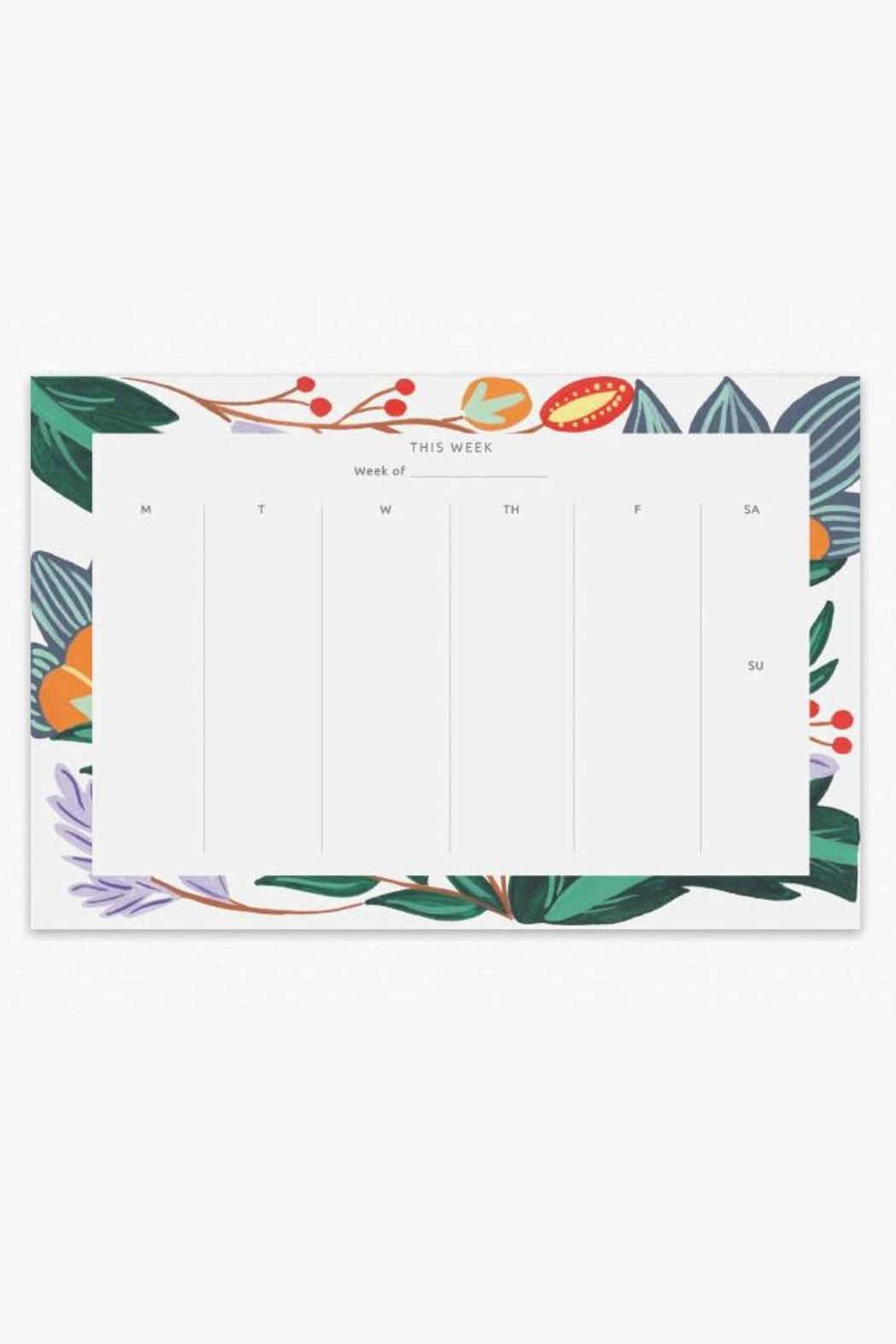 The Affair Floral Weekly Notepad - Main Image