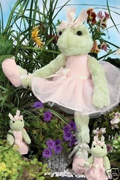 The Bearington Collection Stuffed Ballerina Frog - Alternate List Image