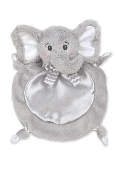 The Bearington Collection Wee Lil Spout Gray Elephant Blankie - Alternate List Image