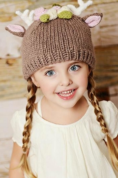 The Blueberry Hill Fawn Infant Hat - Alternate List Image