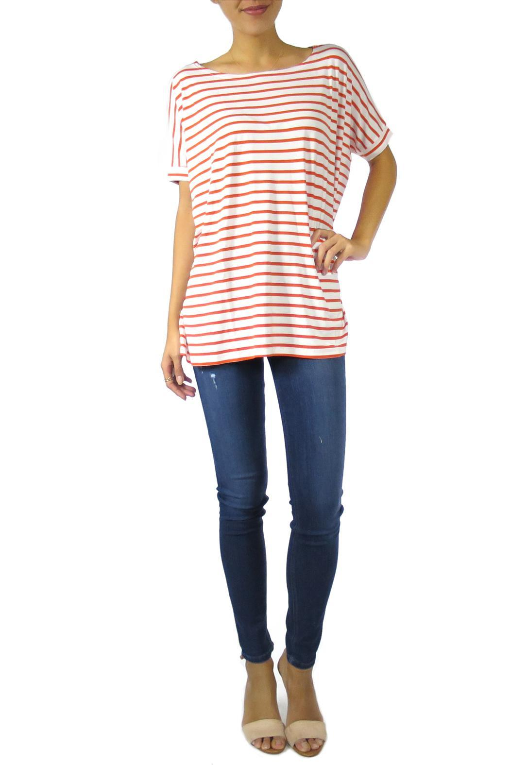 The Butik Boxy Striped Top - Front Cropped Image