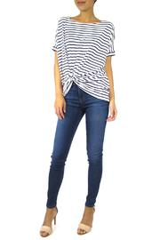 The Butik Boxy Striped Top - Front full body
