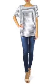 The Butik Boxy Striped Top - Front cropped