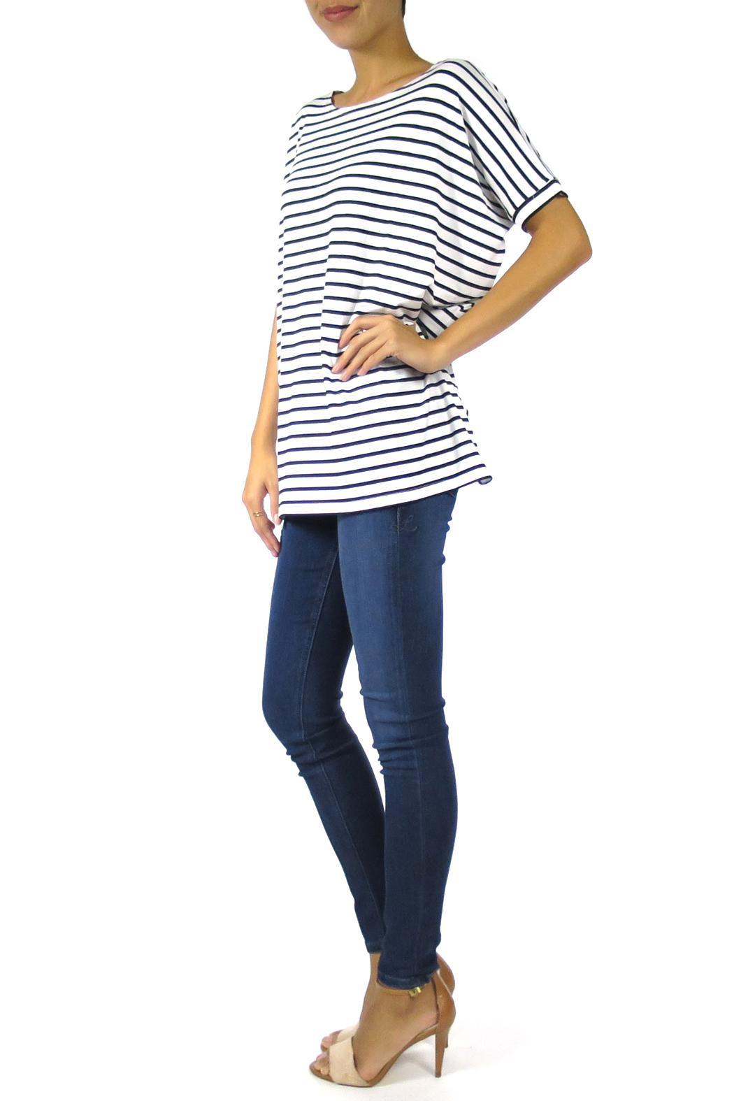 The Butik Boxy Striped Top - Side Cropped Image