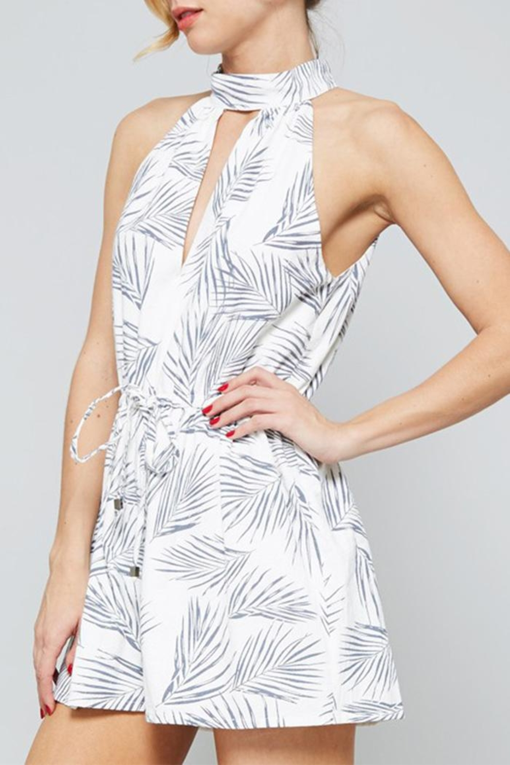 The Butik Fern Printed Romper - Front Full Image