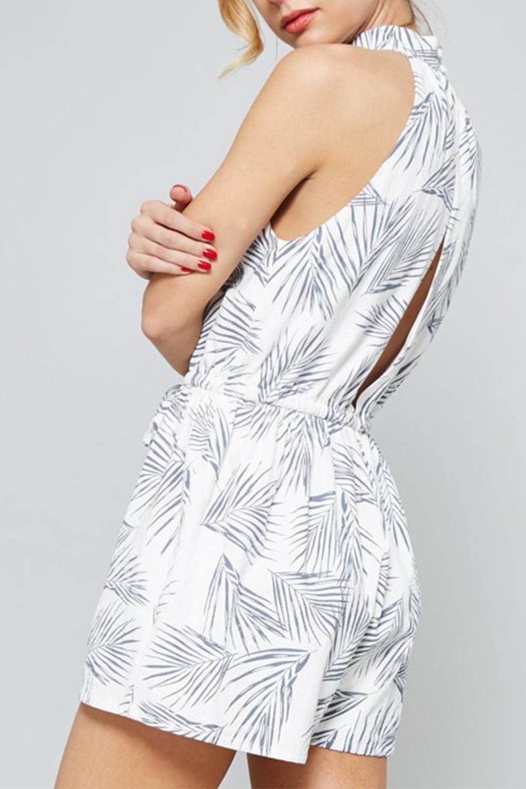 The Butik Fern Printed Romper - Side Cropped Image