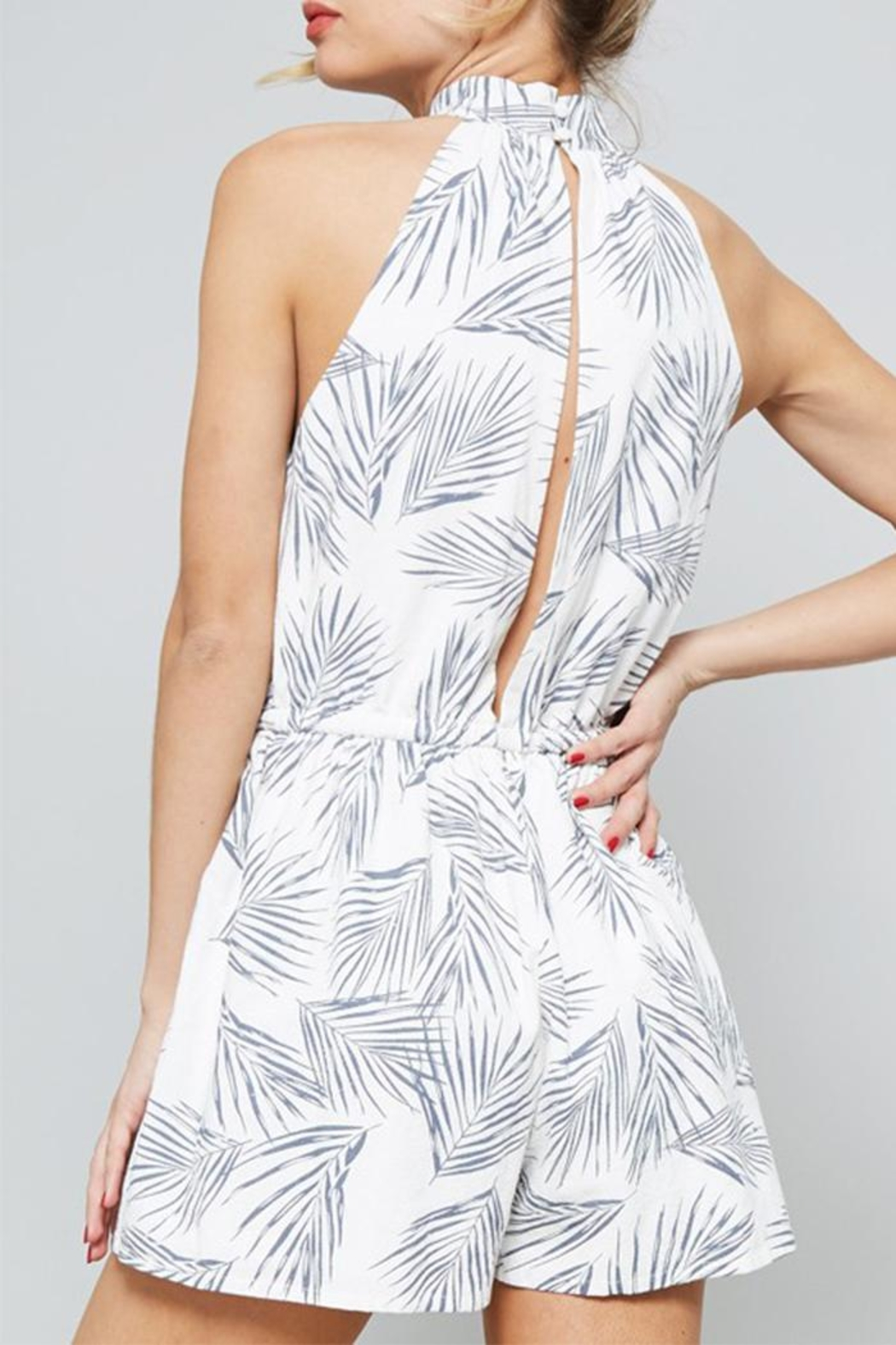 The Butik Fern Printed Romper - Back Cropped Image