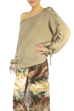 Shoptiques Product: Lace Up Sleeve Sweater