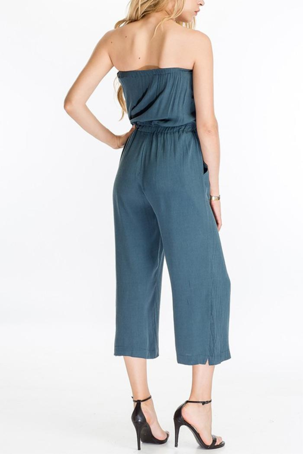 The Butik Strapless Culotte Jumpsuit - Side Cropped Image