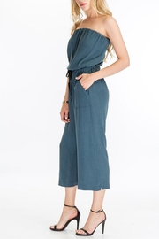 The Butik Strapless Culotte Jumpsuit - Front full body