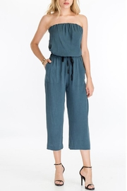 The Butik Strapless Culotte Jumpsuit - Product Mini Image