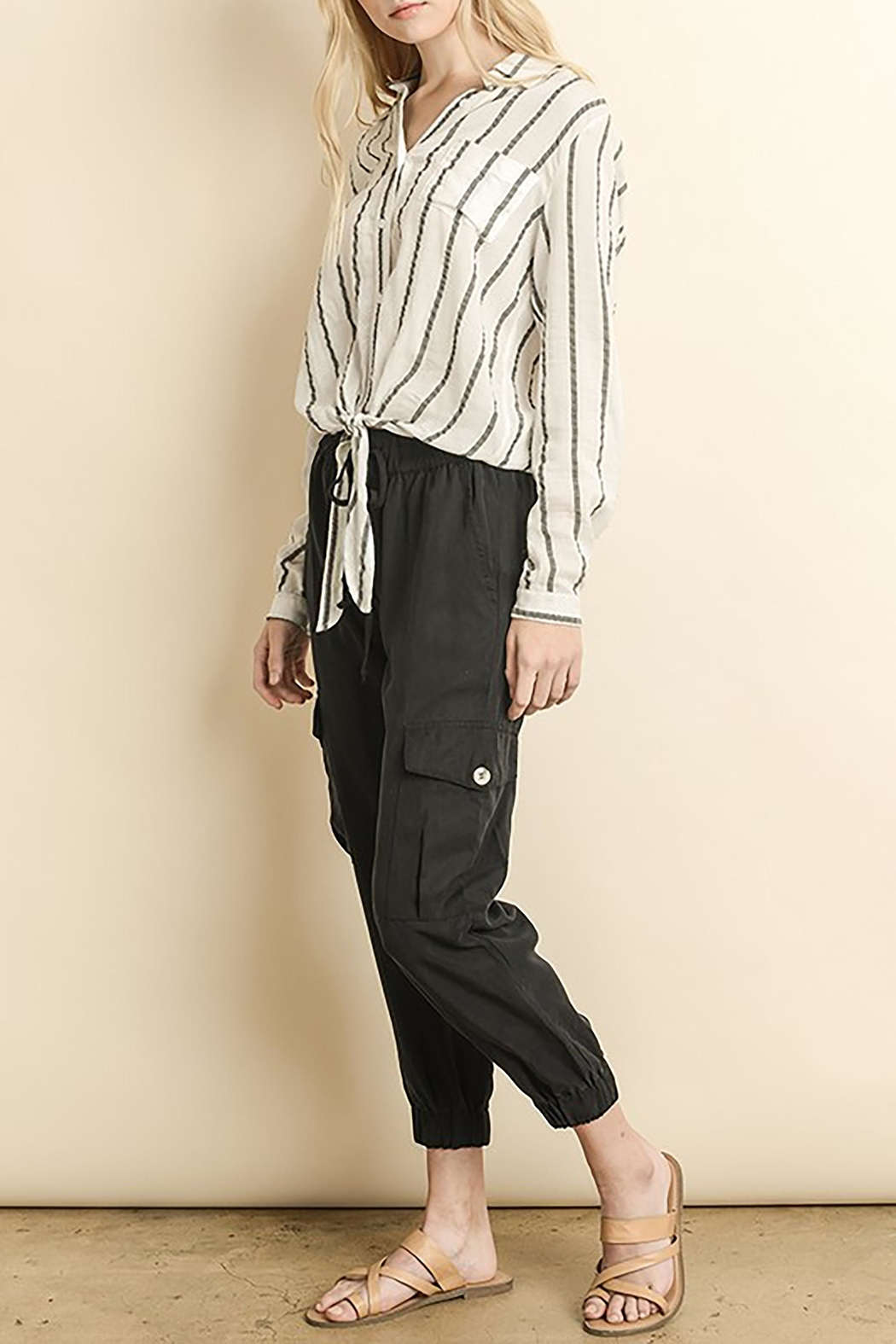 The Butik Tencel Joggers - Front Cropped Image