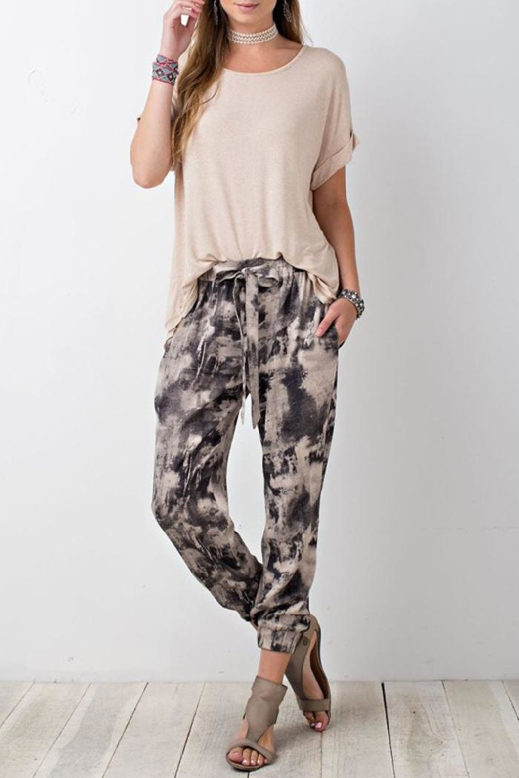The Butik Tie Dye Joggers - Front Cropped Image