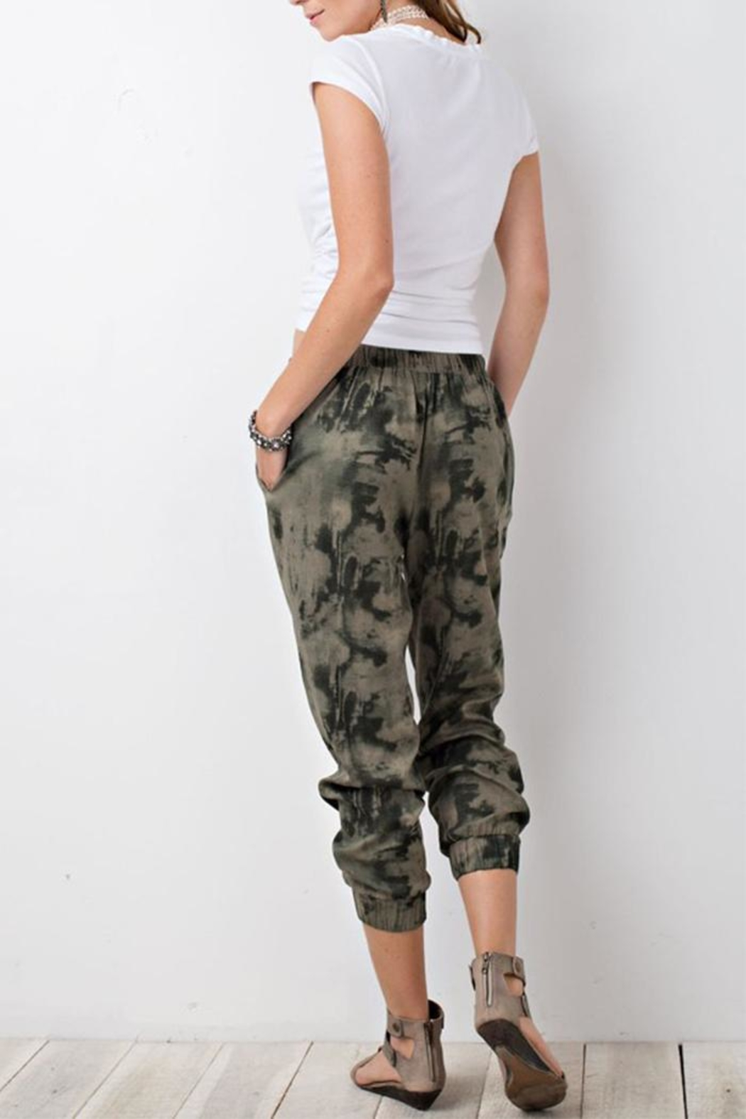 The Butik Tie Dye Joggers - Back Cropped Image