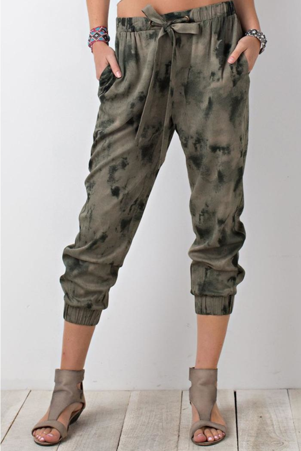 The Butik Tie Dye Joggers - Front Full Image
