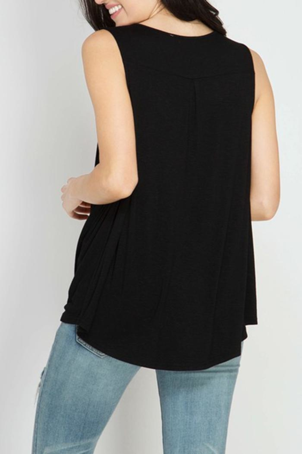 The Butik Twisted Cowl Top - Front Full Image