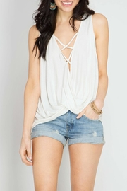 The Butik Twisted Cowl Top - Front cropped