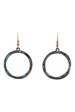 Shoptiques Product: Twisted Drop Earrings