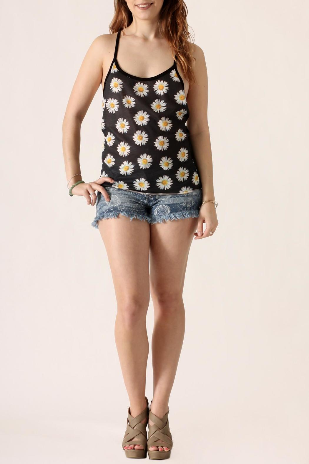 The Classic Daisy Print Tank - Front Full Image