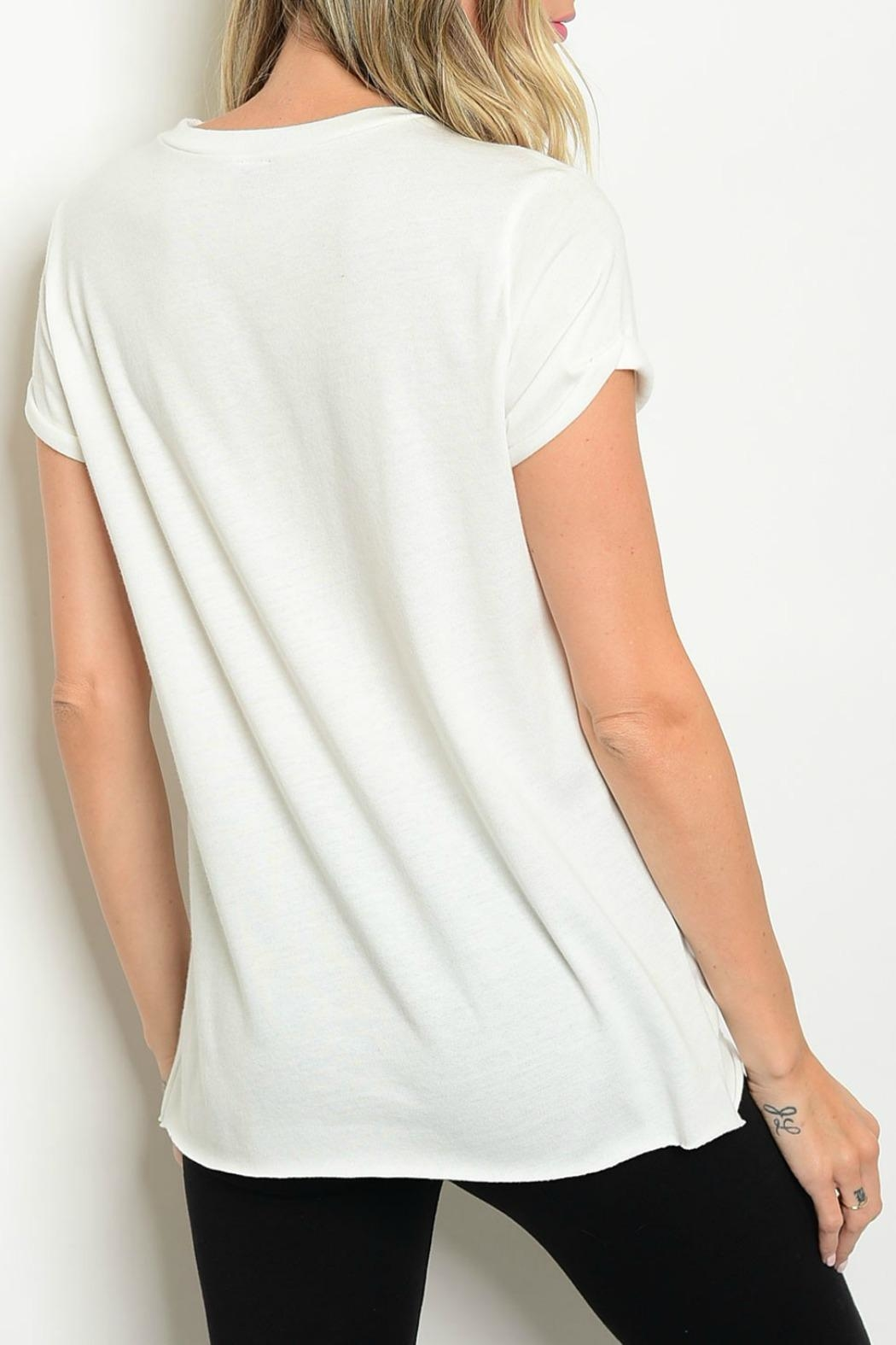 The Classic Deep-V Rose Tee - Front Full Image