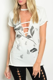 The Classic Deep-V Rose Tee - Front cropped