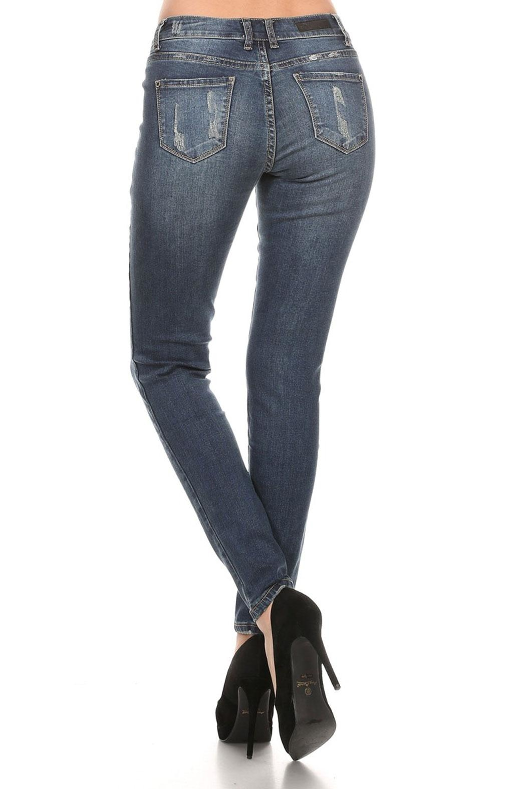 The Classic Ellie Distressed Jeans - Side Cropped Image