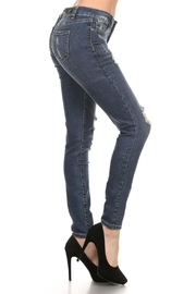 The Classic Ellie Distressed Jeans - Front full body
