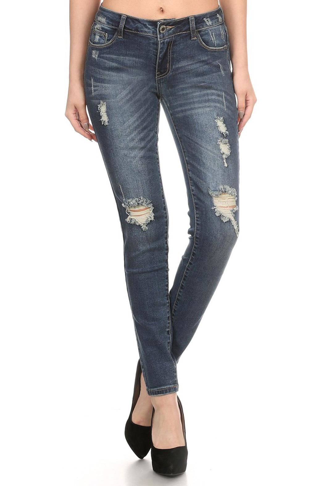 The Classic Ellie Distressed Jeans - Main Image