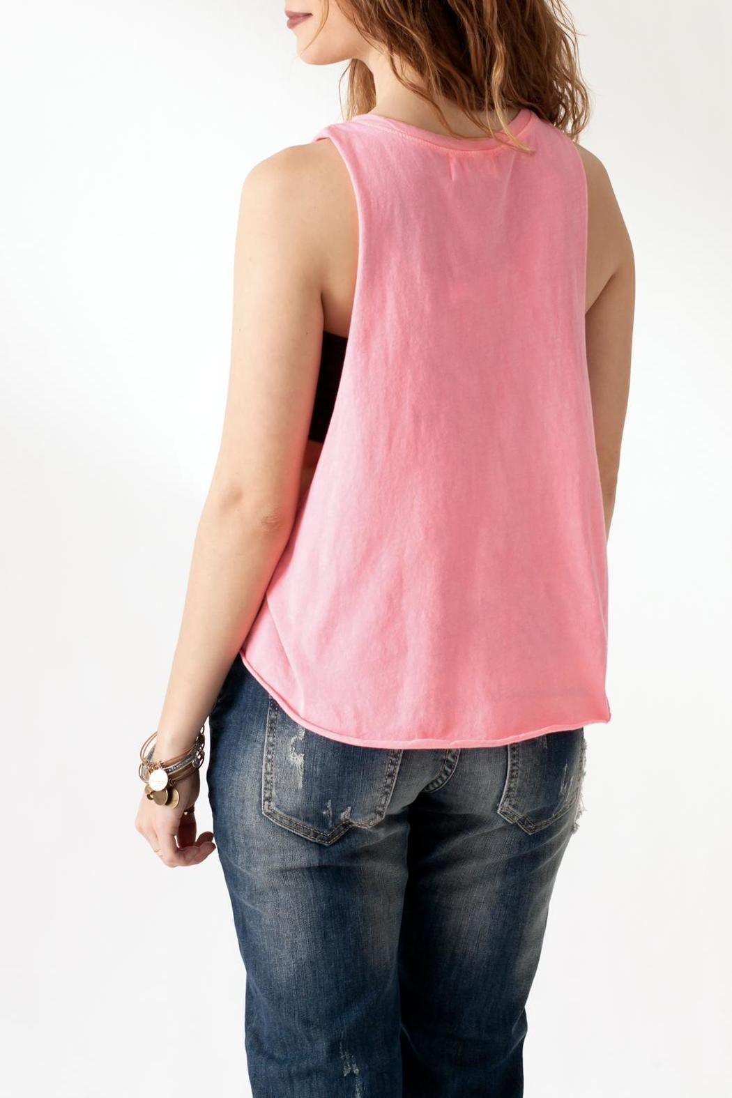 The Classic Heart Print Tank - Back Cropped Image