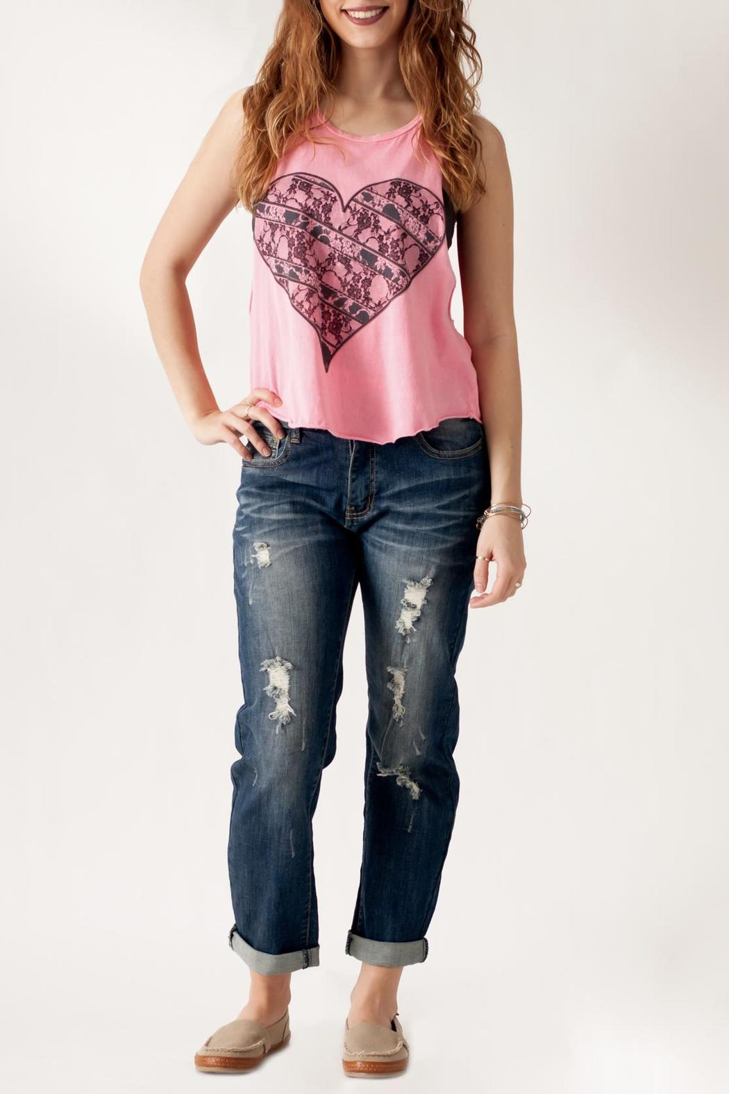 The Classic Heart Print Tank - Front Full Image