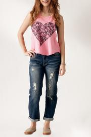 The Classic Heart Print Tank - Front full body