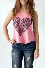 The Classic Heart Print Tank - Front cropped