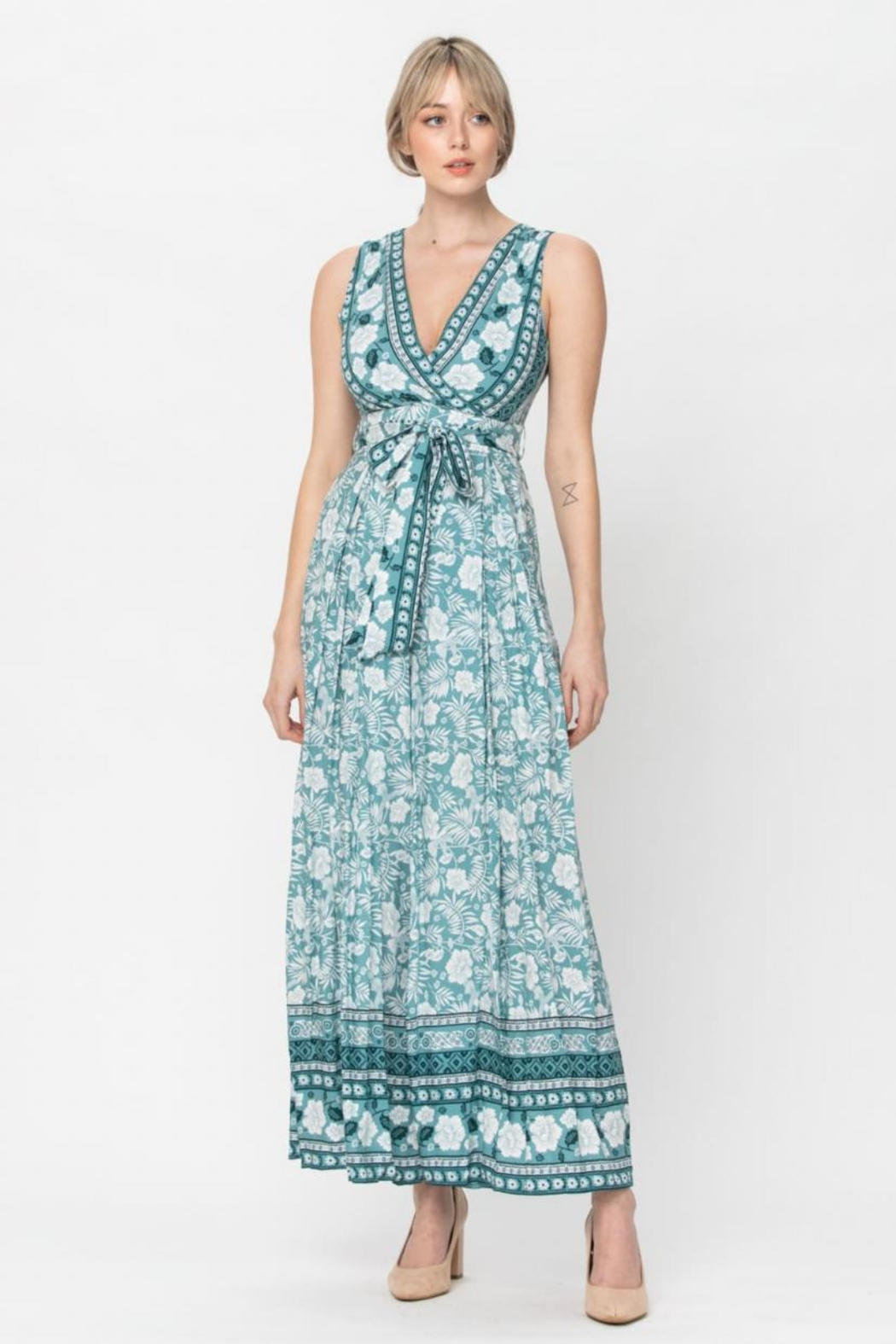 The Clothing Co Belted Floral Jumpsuit - Main Image
