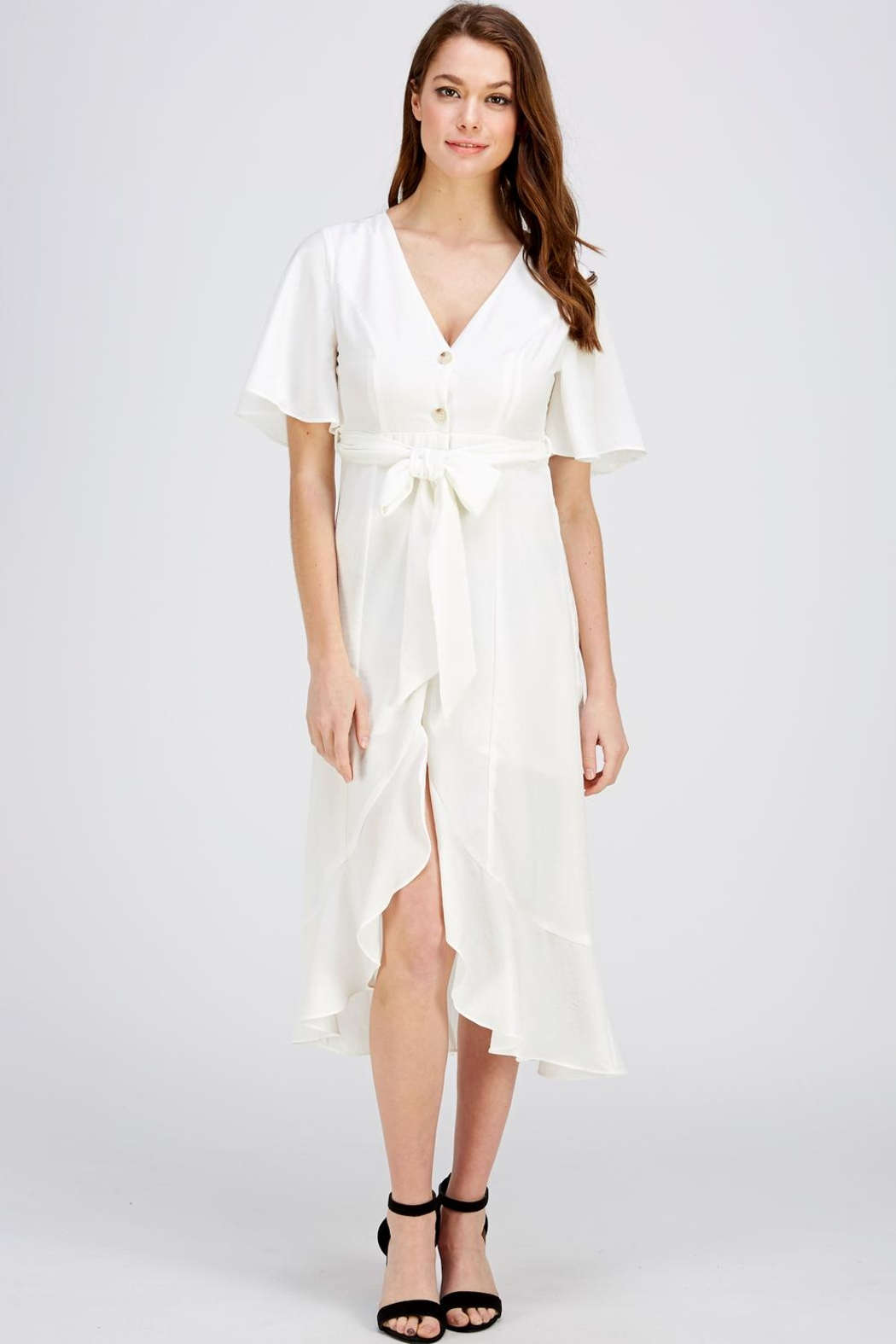 The Clothing Co Button Down Dress - Main Image
