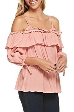 The Clothing Co Coldshoulder Tassel Top - Alternate List Image