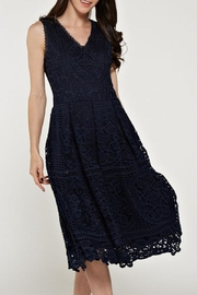 The Clothing Co Crochet/lace Navy Dress - Product Mini Image