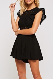 The Clothing Co Crochet Lace Romper - Side cropped