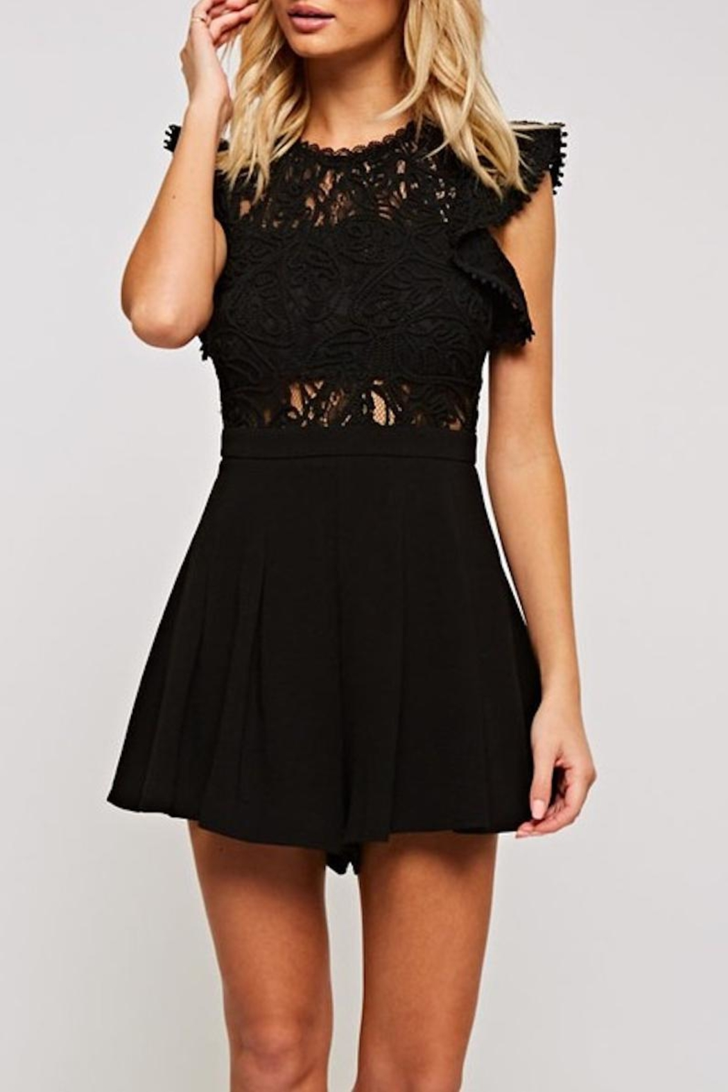 The Clothing Co Crochet Lace Romper - Main Image
