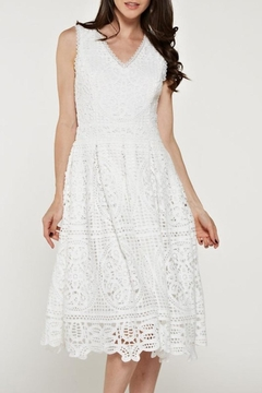The Clothing Co Crochet/lace White Dress - Product List Image