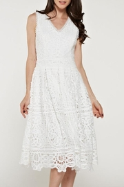 The Clothing Co Crochet/lace White Dress - Product Mini Image